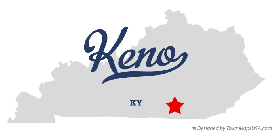 Map of Keno Kentucky KY