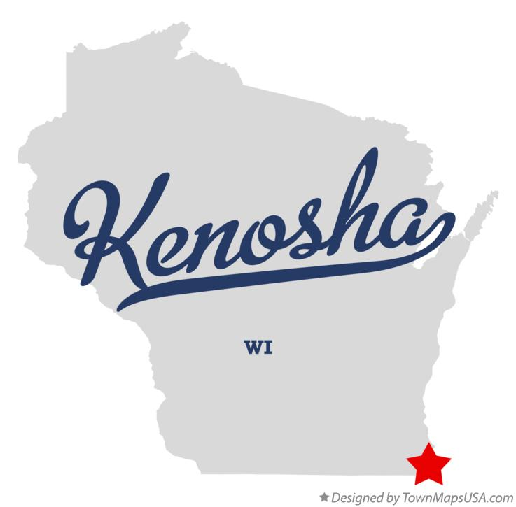 Map of Kenosha, WI, Wisconsin Konesha Wisconsin Usa Map on