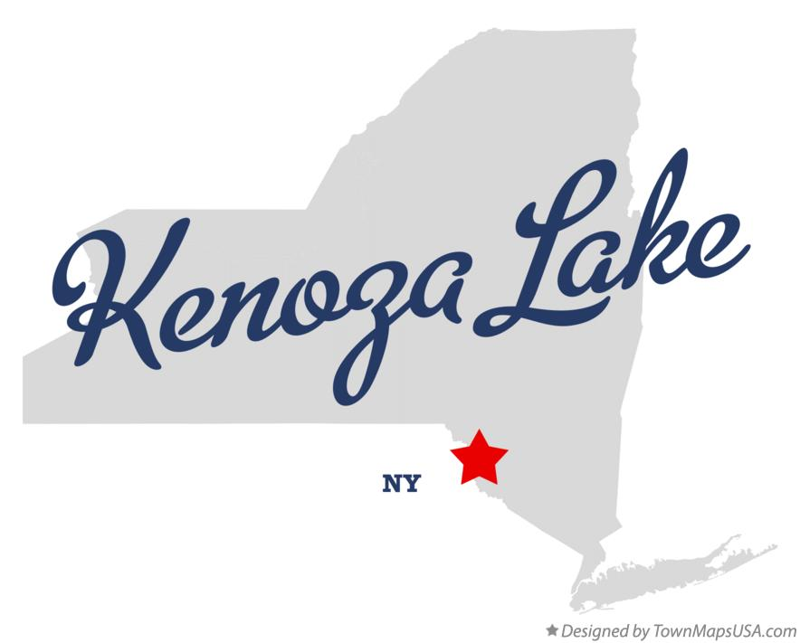 Map of Kenoza Lake New York NY