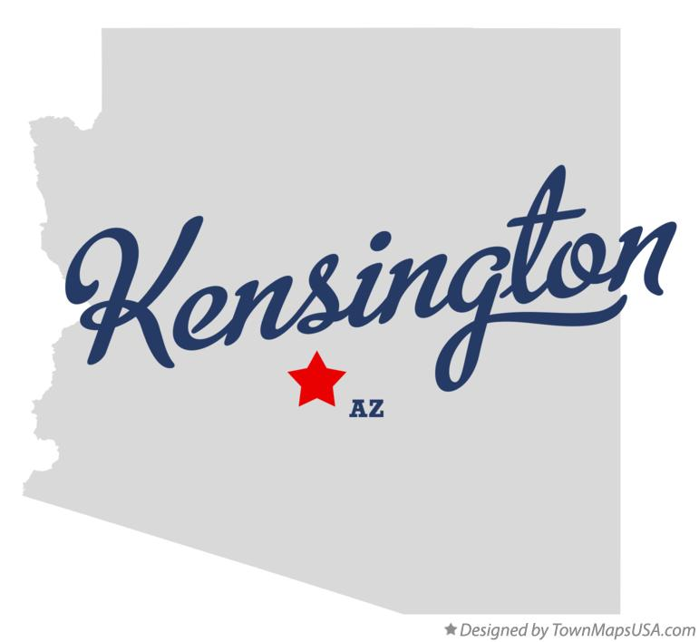 Map of Kensington Arizona AZ