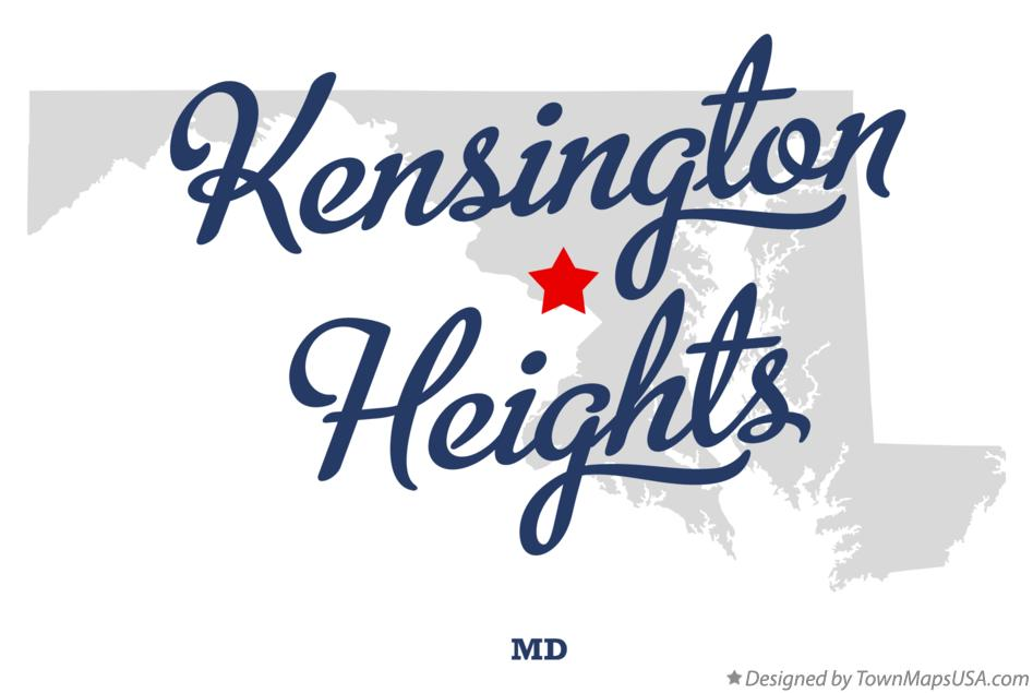 Map of Kensington Heights Maryland MD