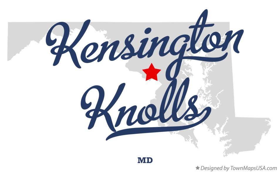 Map of Kensington Knolls Maryland MD