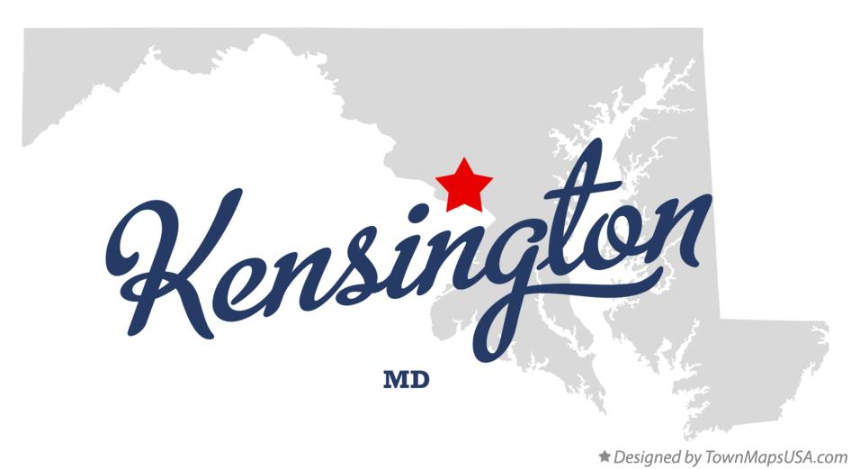 Map of Kensington Maryland MD