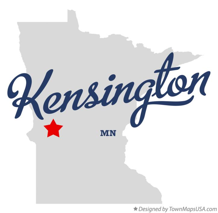 Map of Kensington Minnesota MN