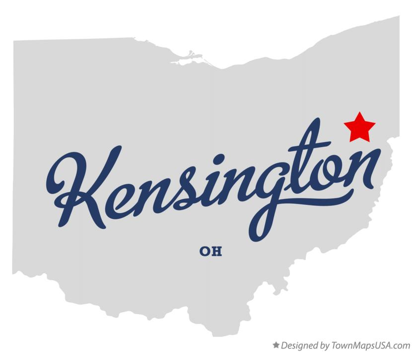 Map of Kensington Ohio OH