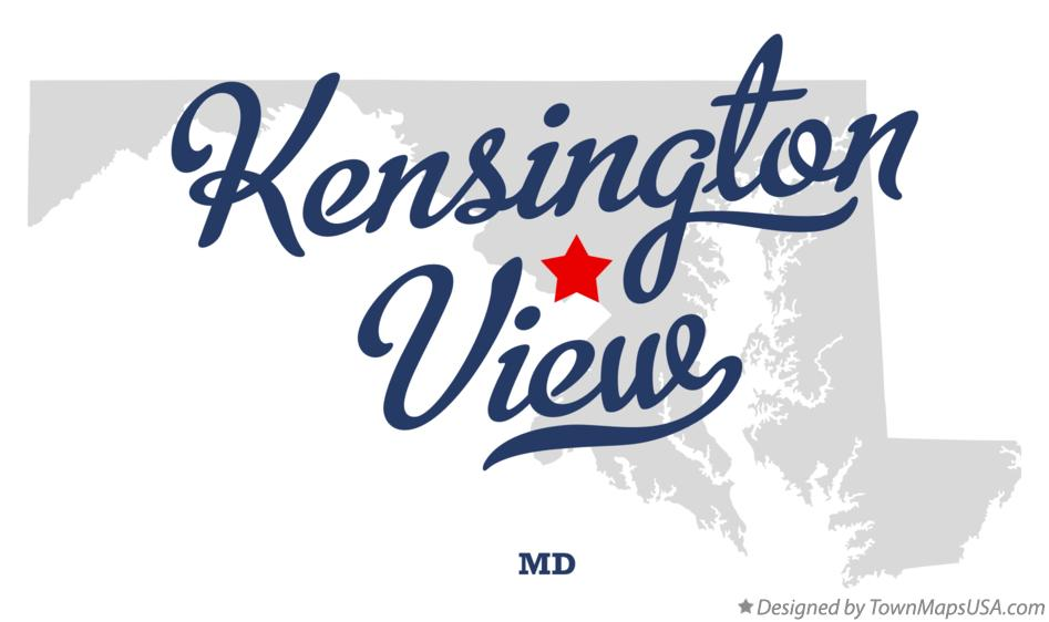 Map of Kensington View Maryland MD