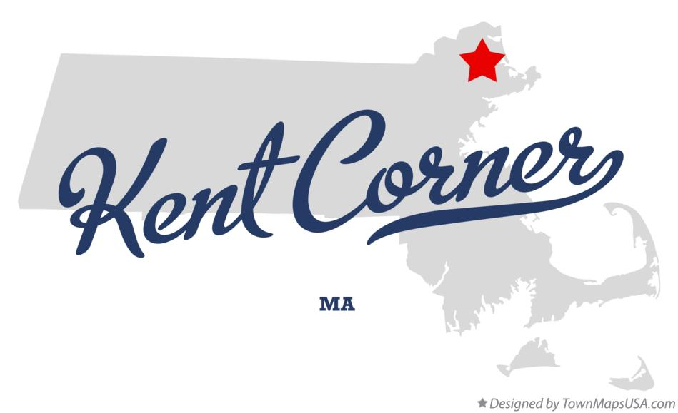 Map of Kent Corner Massachusetts MA