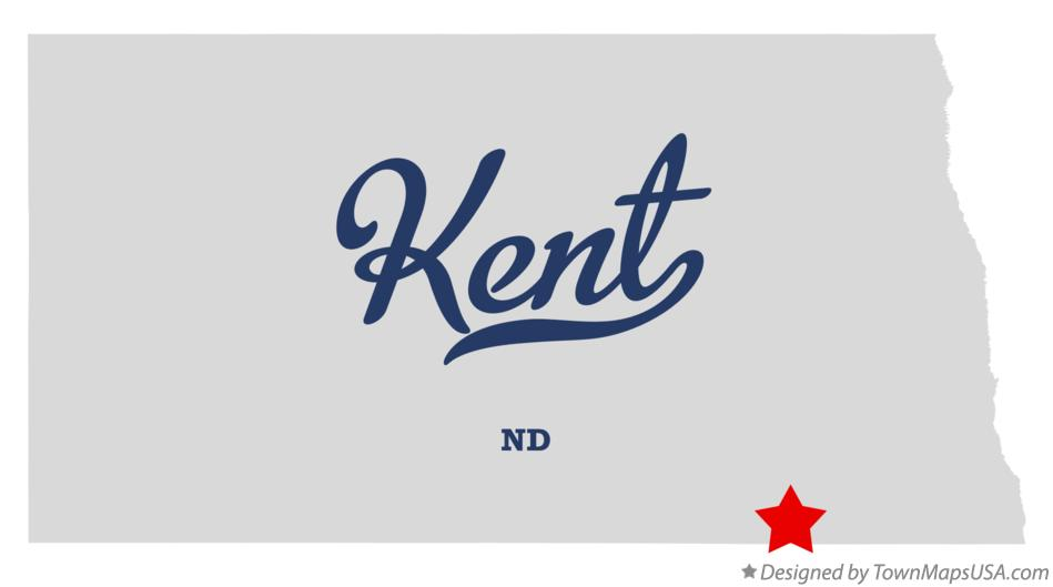 Map of Kent North Dakota ND
