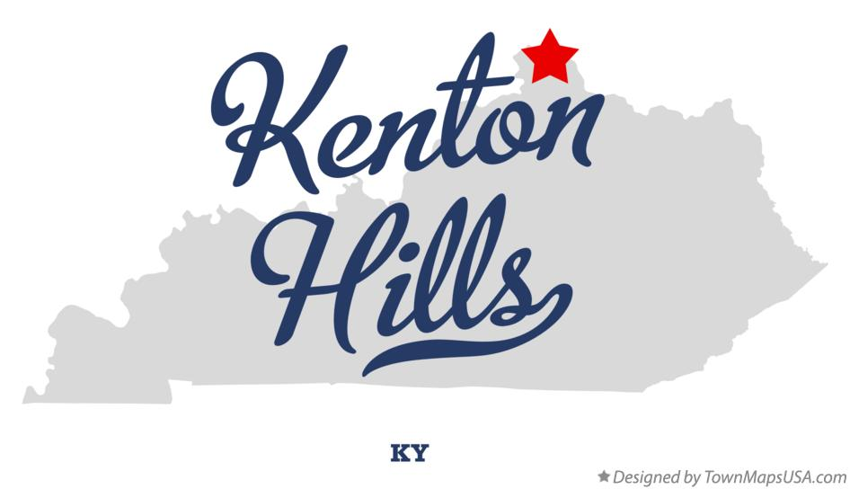 Map of Kenton Hills Kentucky KY