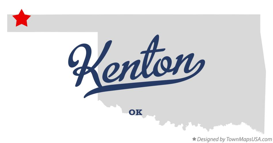 Map of Kenton Oklahoma OK