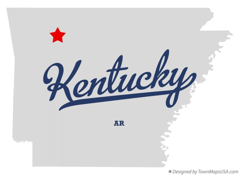 Map of Kentucky Arkansas AR