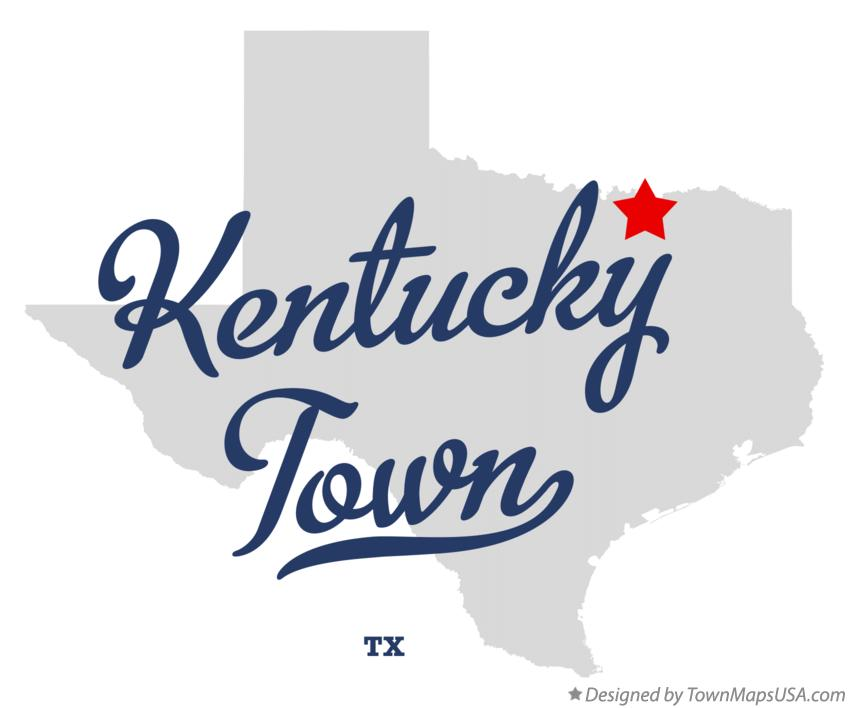 Map of Kentucky Town Texas TX