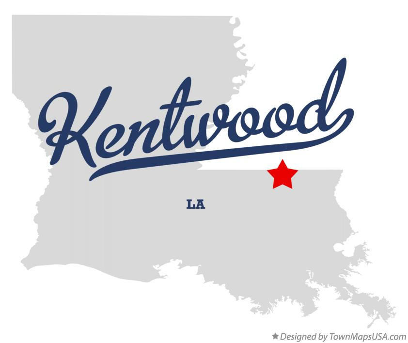 Map of Kentwood Louisiana LA
