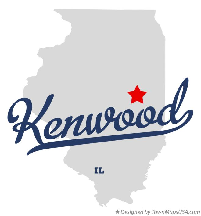 Map of Kenwood Illinois IL