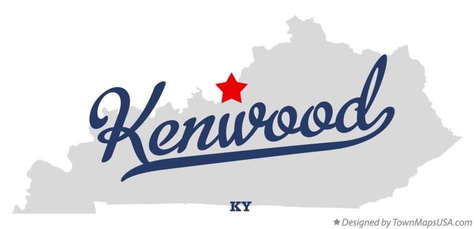 Map of Kenwood Kentucky KY