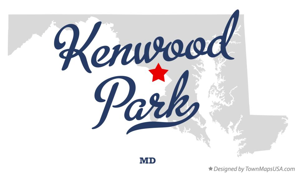 Map of Kenwood Park Maryland MD