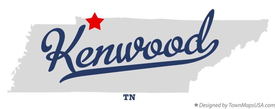 Map of Kenwood Tennessee TN