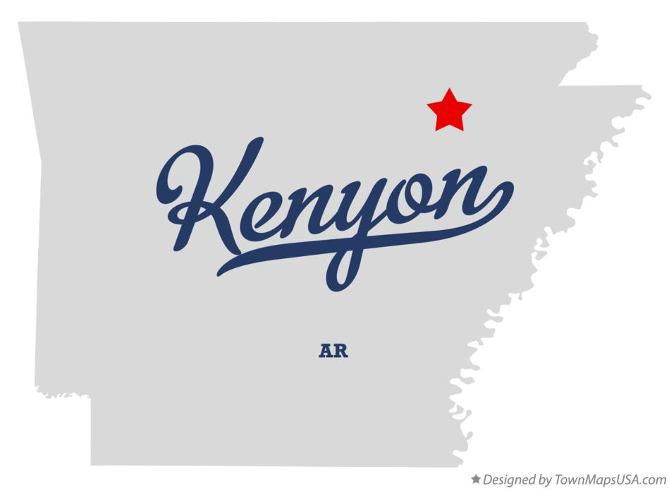 Map of Kenyon Arkansas AR