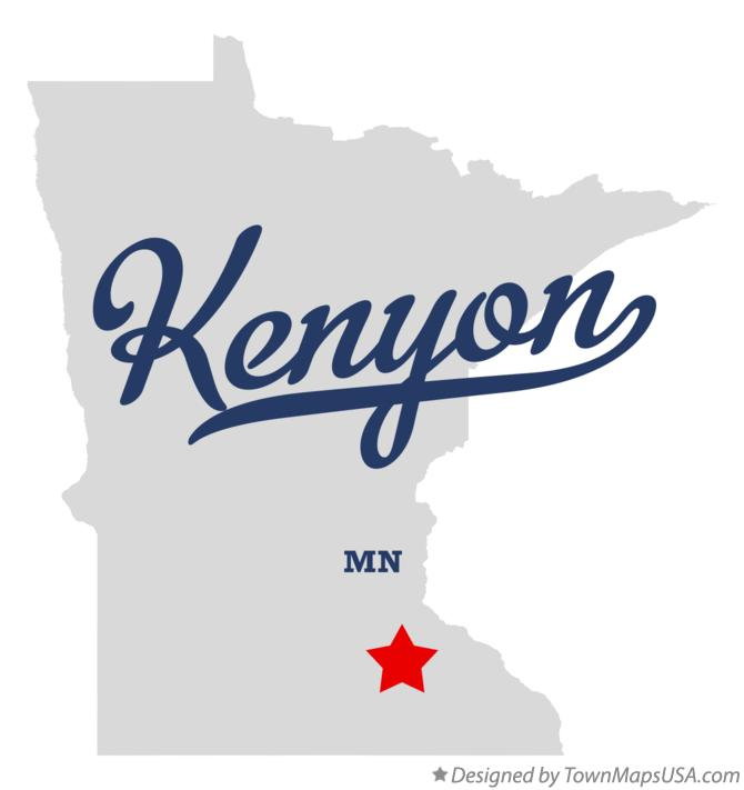 Map of Kenyon Minnesota MN