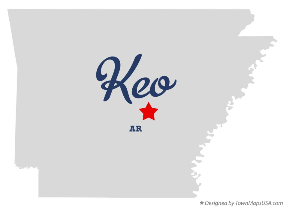 Map of Keo Arkansas AR