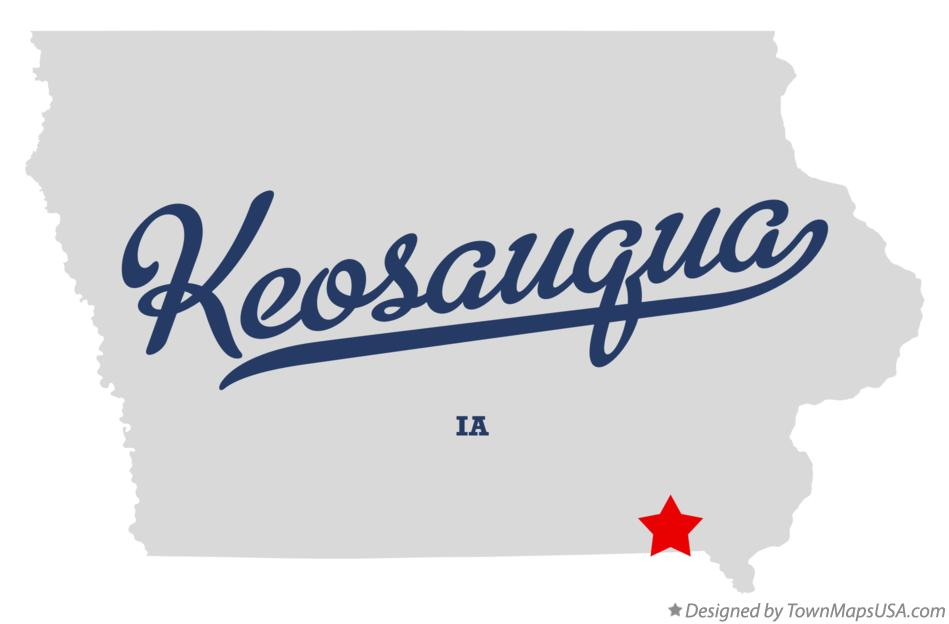 Map of Keosauqua Iowa IA