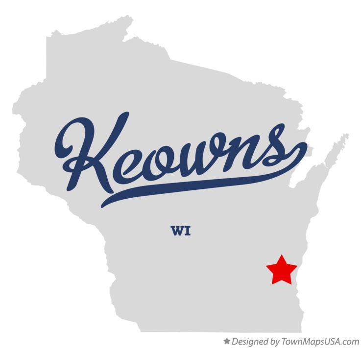 Map of Keowns Wisconsin WI