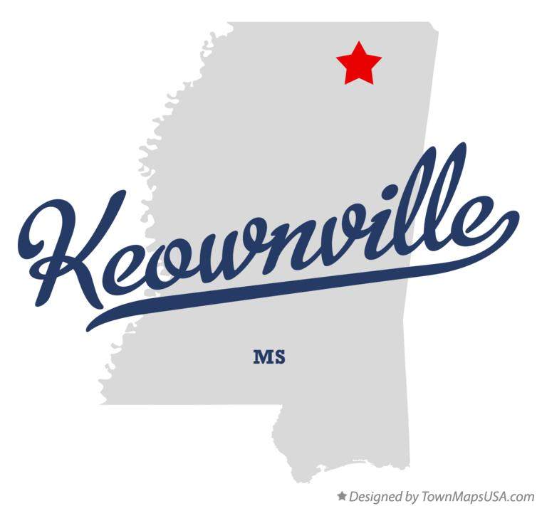 Map of Keownville Mississippi MS