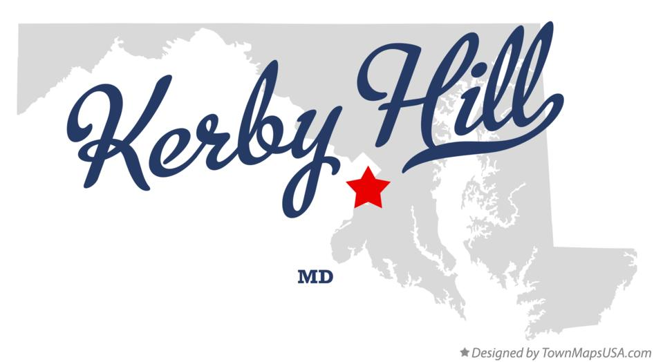 Map of Kerby Hill Maryland MD