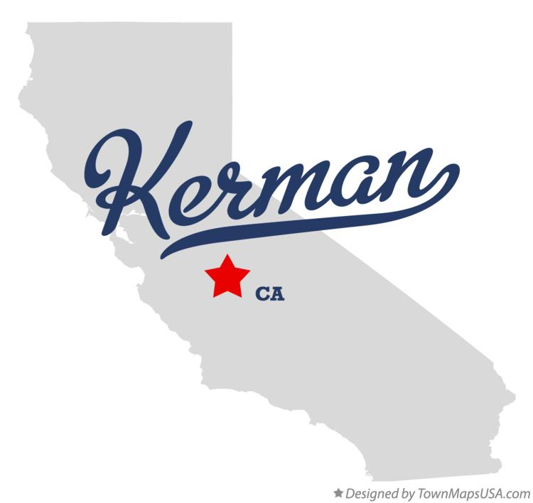 Map of Kerman California CA