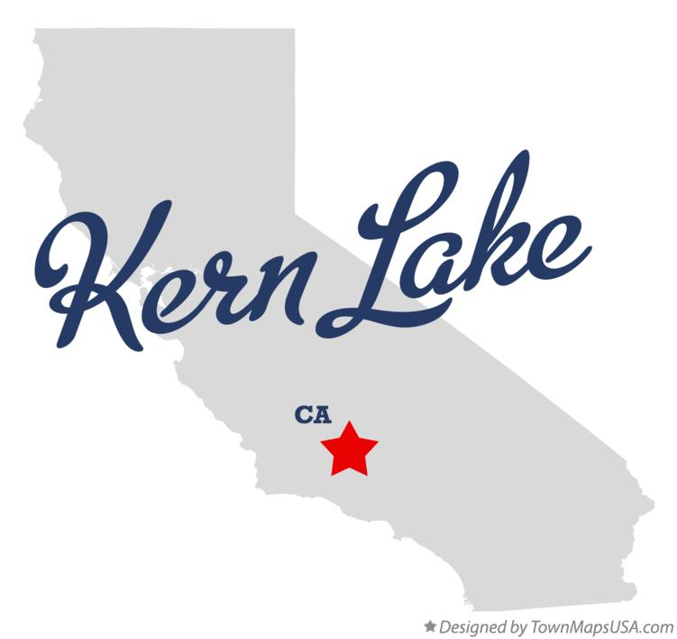 Map of Kern Lake California CA