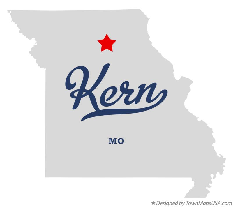 Map of Kern Missouri MO