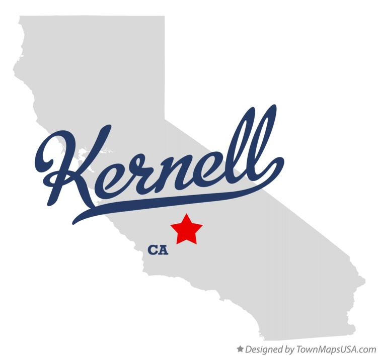 Map of Kernell California CA