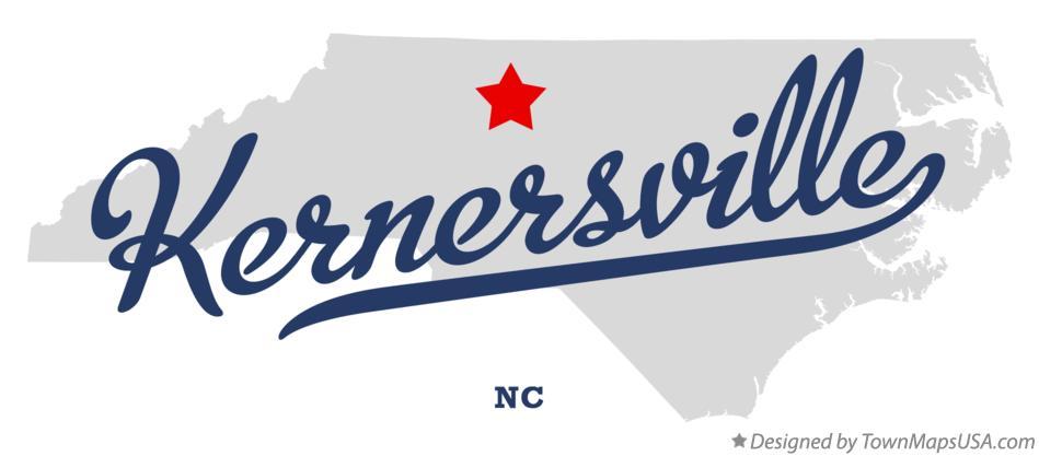 Map Of Kernersville Nc North Carolina
