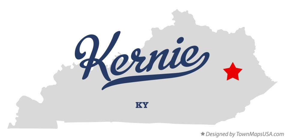 Map of Kernie Kentucky KY