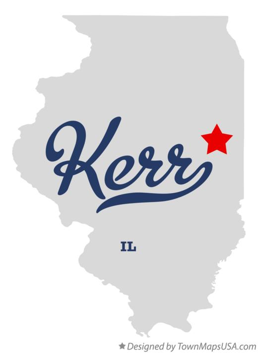 Map of Kerr Illinois IL