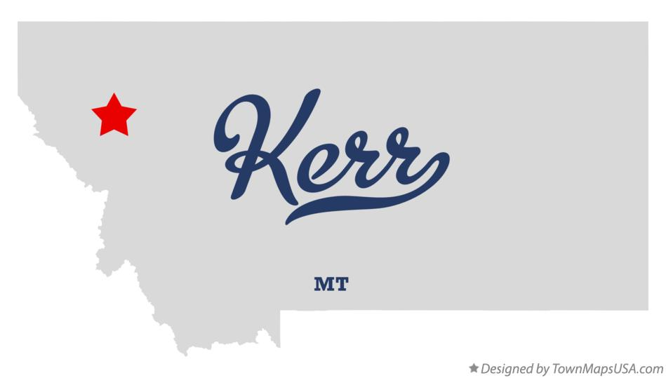 Map of Kerr Montana MT