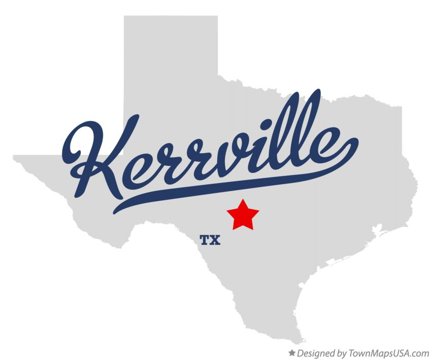 Map of Kerrville Texas TX