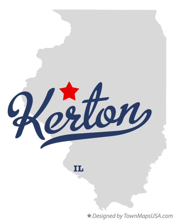 Map of Kerton Illinois IL