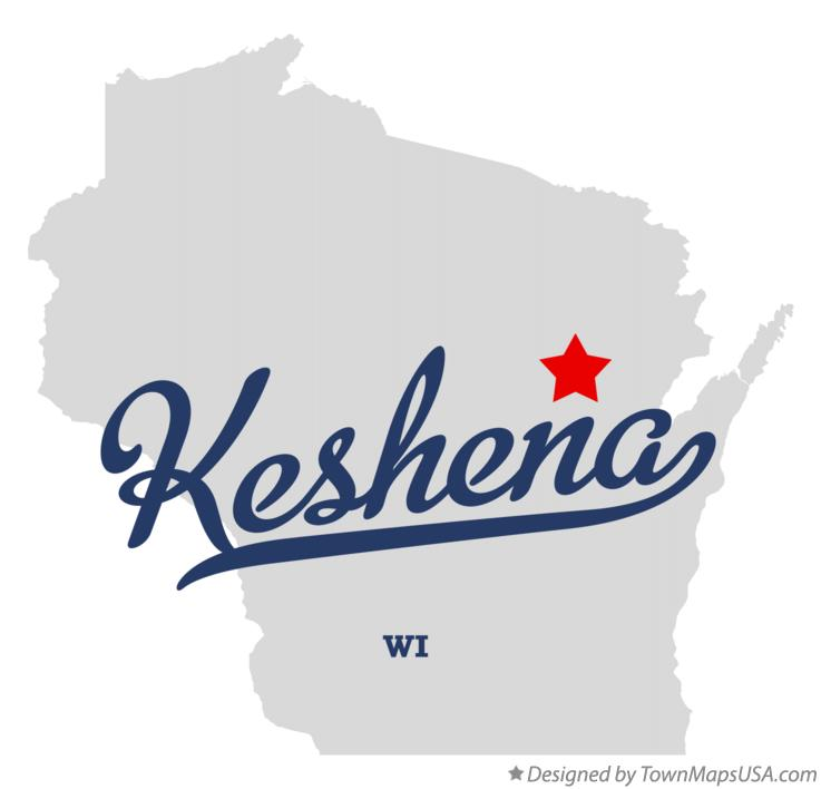 Map of Keshena Wisconsin WI