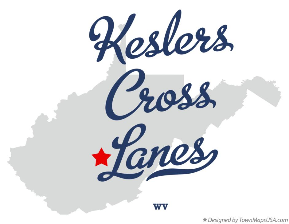 Map of Keslers Cross Lanes West Virginia WV