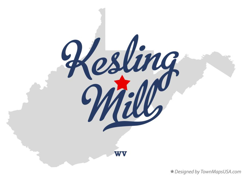 Map of Kesling Mill West Virginia WV