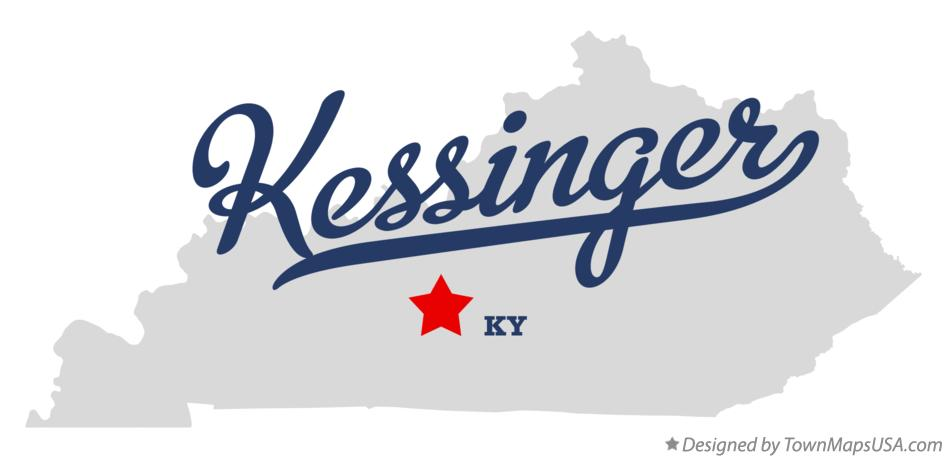 Map of Kessinger Kentucky KY