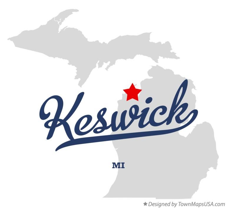Map of Keswick Michigan MI