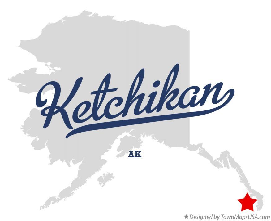 Map Of Ketchikan Ak Alaska
