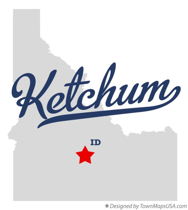 Map of Ketchum Idaho ID
