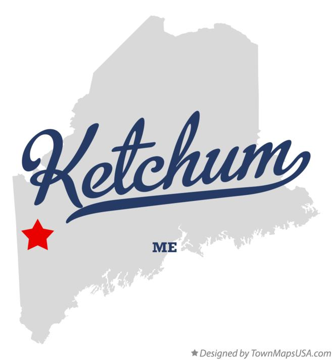 Map of Ketchum Maine ME