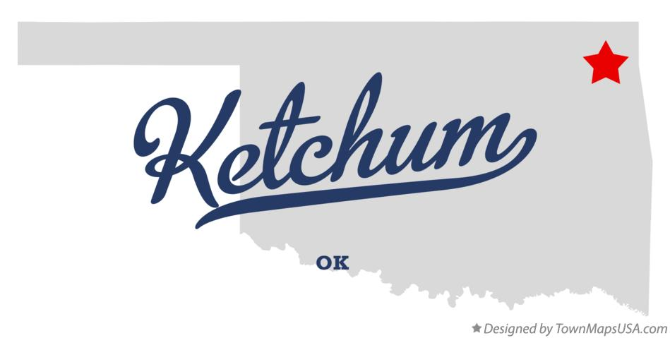 Map of Ketchum Oklahoma OK