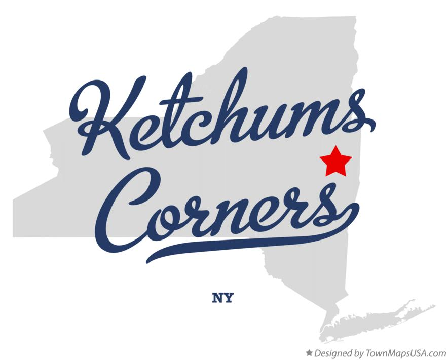 Map of Ketchums Corners New York NY