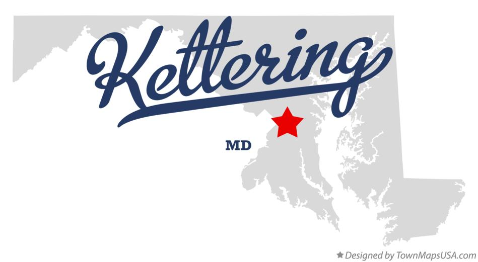 Map of Kettering Maryland MD