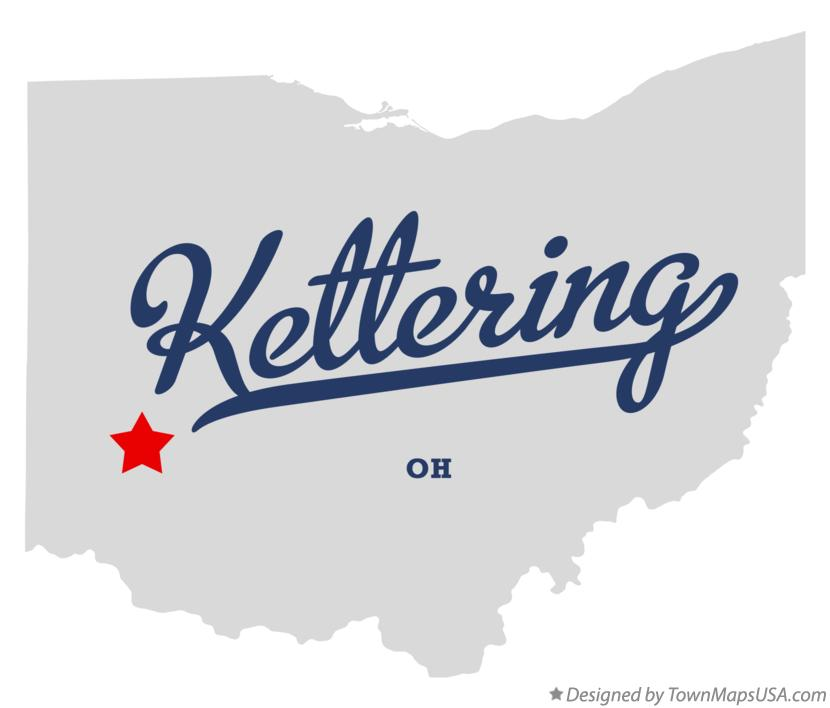 Map of Kettering Ohio OH